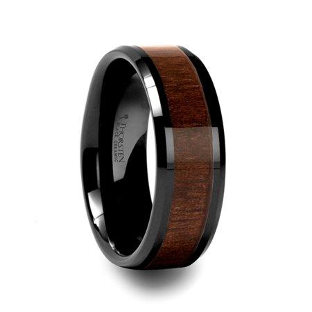 Thorsten Yukon Beveled Black Ceramic Ring With Black