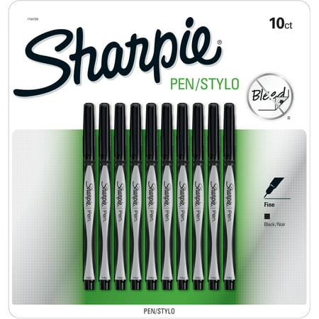 Sharpie Pens, Fine Point, Black, 10 Pack