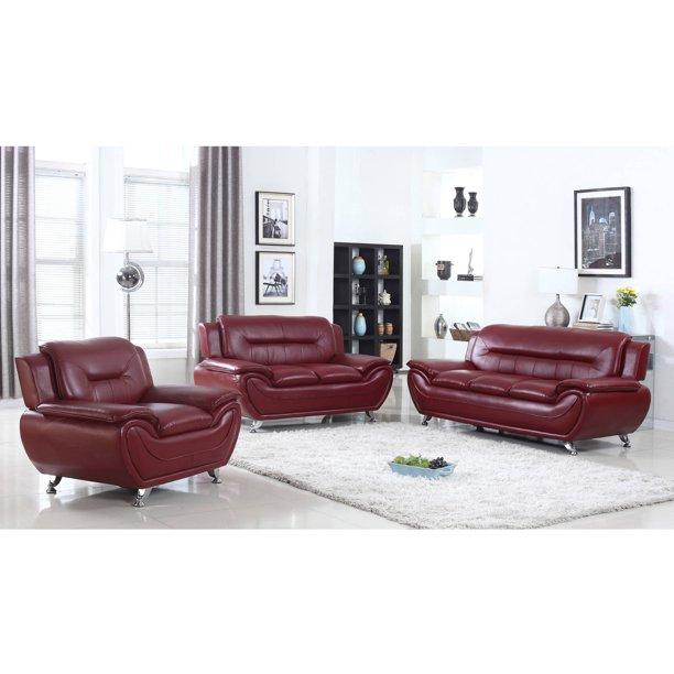 Ufe Norton Burgundy Faux Leather 3