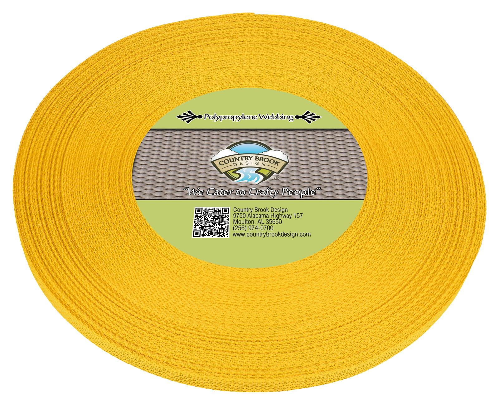 Country Brook Design® 1//2 Inch Black Polypro Webbing 25 Yards