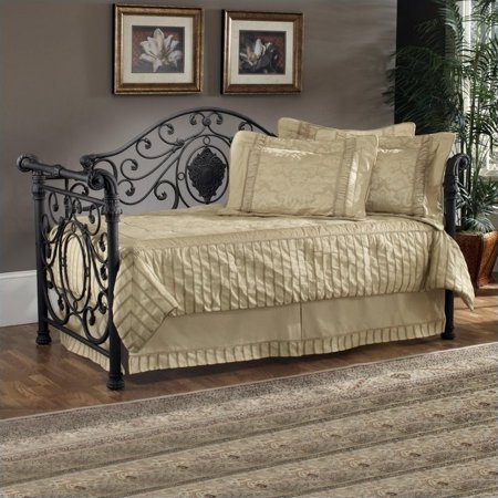 Kingfisher Lane Twin Metal Daybed with Trundle in Antique Brown ()