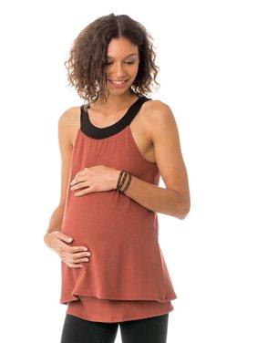Majamas The Oakley Maternity Nursing Double Layer Tank Top