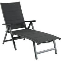 Hanover Regis Padded Sling Chaise in Gray