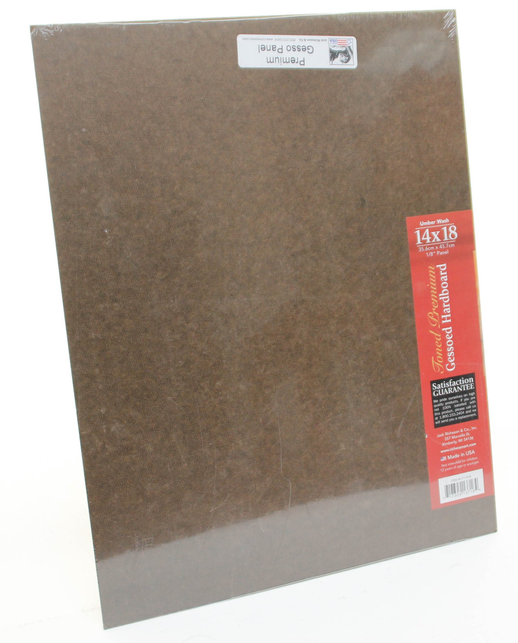 Jack Richeson Richeson Umber Wash Toned Gessoed 1//8 Hardboard 8x10