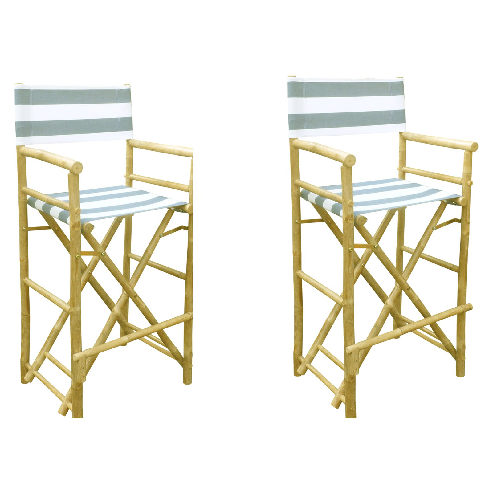 Phat Tommy Foldable Tall Directors Chairs - Set of 2