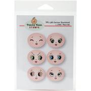 Peachy Keen Stamps Clear Face Assortment 6/Pkg-Cartoon Bombshell