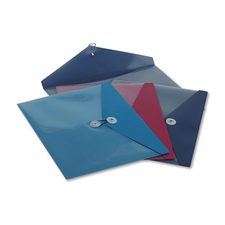 Pendaflex Poly Booklet Envelope  Side Opening  12 1 2 X 9 1 4  3 Colors  4 Pack