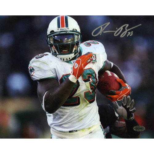 NFL - Ronnie Brown Autographed Photograph | Details: Miami Dolphins, Horizontal Print, 8x10