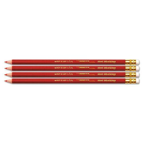 Write Dudes USA Gold Checking Red Pencils, Pre-Sharpened, 4-Pack
