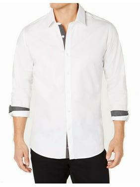 Bright Mens Contrast Trim Dress Shirt XL