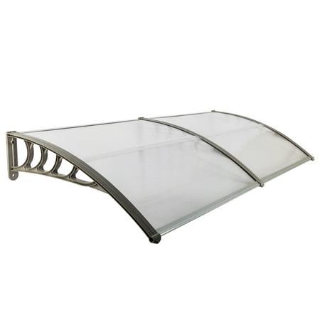 Door Window Rain Cover Canopy Outdoor Awning Patio Cover UV Rain Snow Protection Sun Shade Shelter ()