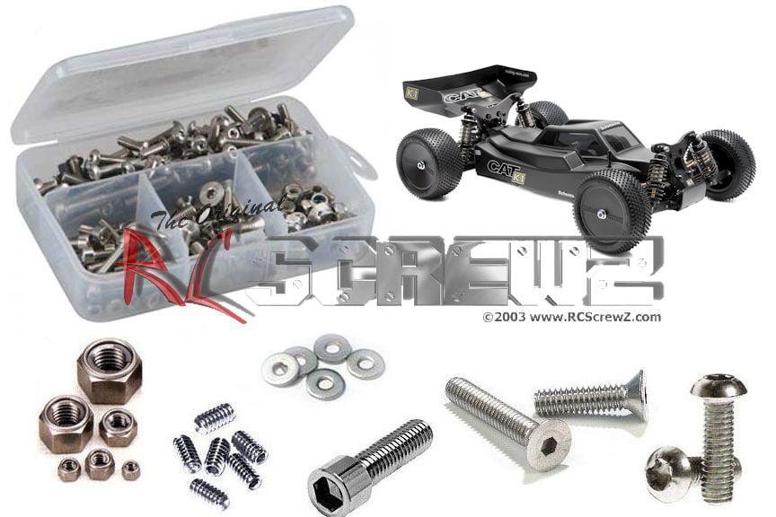 RC Screwz Stainless Steel Screw Kit for Schumacher Cat K1 1 10 #sch025 by RCScrewZ