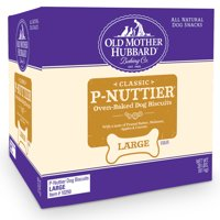 Old Mother Hubbard Large Classic P-Nuttier Peanut Butter Dog Treats, 20 Lb
