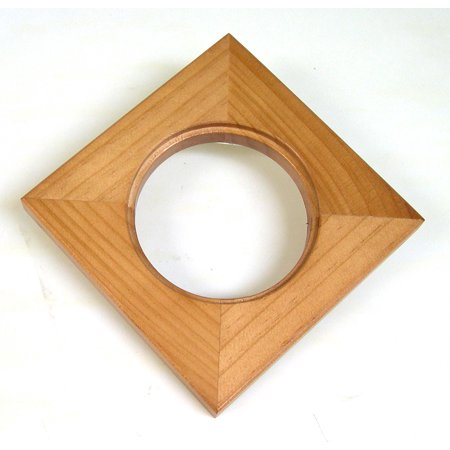 Solid Wood Frame Can Hold a 4 Inch Round Tile or Similar Object ()