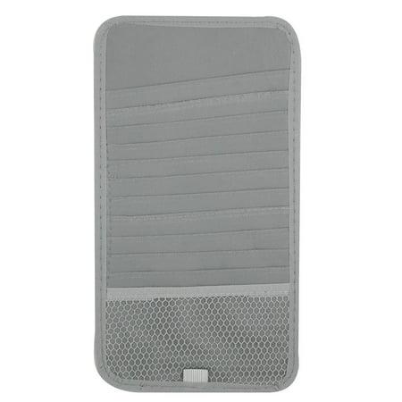 Unique Bargains Car Vehicle Elastic Band Gray Nylon 12 Compartments CD Visor Holder (Nova Replacement Visor)