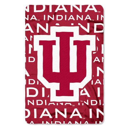 "NCAA - Indiana Hoosiers , ""Shadow"" 40""x 60"" Fleece (Indiana Hoosiers Ncaa College Bedding)"