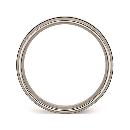 JbSP- Titanium Enameled 8mm Satin Band - image 2 of 6