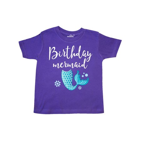 Birthday Mermaid Girls Party Gift Toddler T-Shirt for $<!---->
