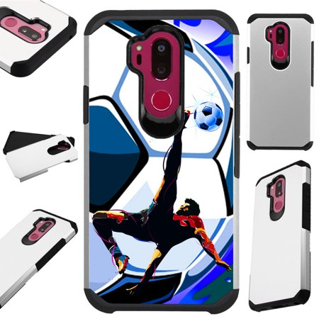 For LG X Power 3 (2018) Case Hybrid TPU Fusion Phone Cover (Soccer Bicycle Kick)