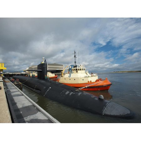 Ballistic Missile Submarine USS Tennessee at Naval Submarine Base Kings Bay Print Wall Art By Stocktrek Images