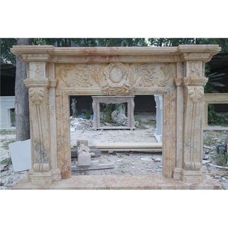 AFD Home 12015914 GE18909 Marble Fireplace Mantel Hole (Maple Fireplace Mantel)