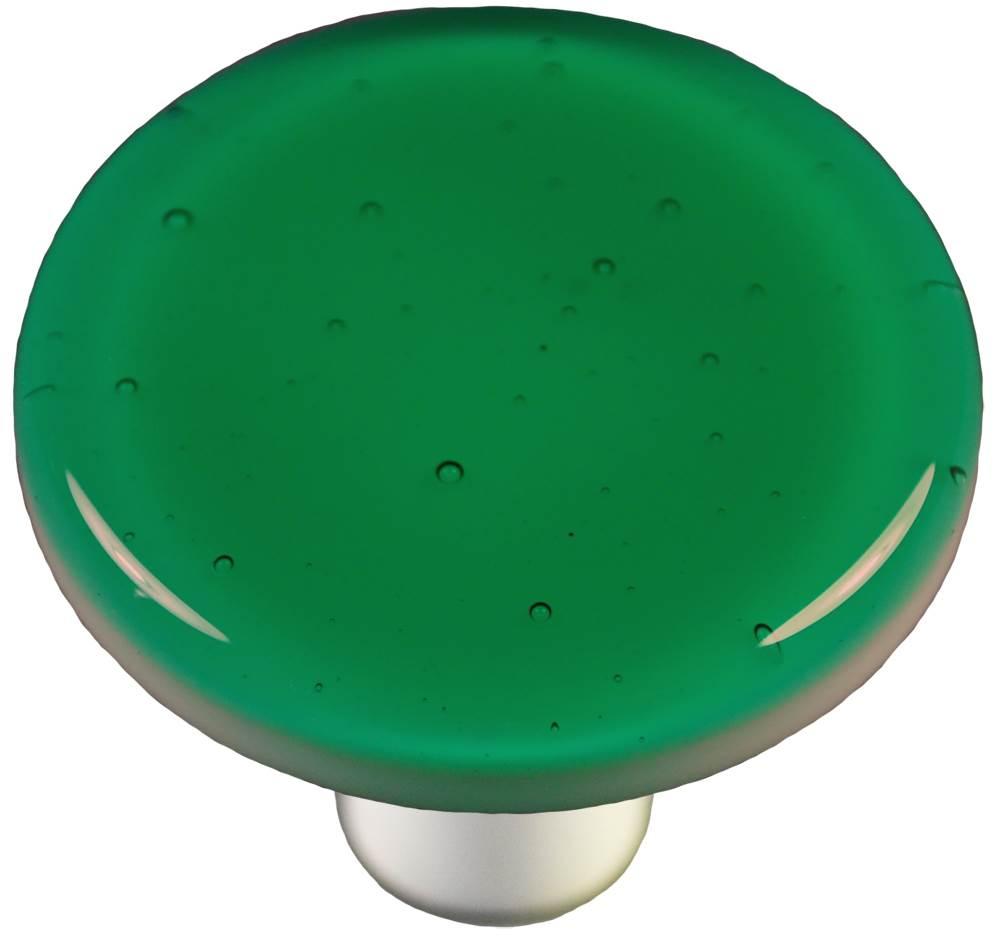 Round Knob in Emerald Green (Aluminum)