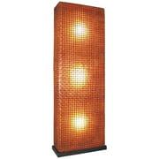 Modern Rectangular Partition Floor Lamp w Wicker Grid Shade