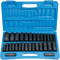 "1/2"" Drive 30 Piece SAE & Metric Deep Set"