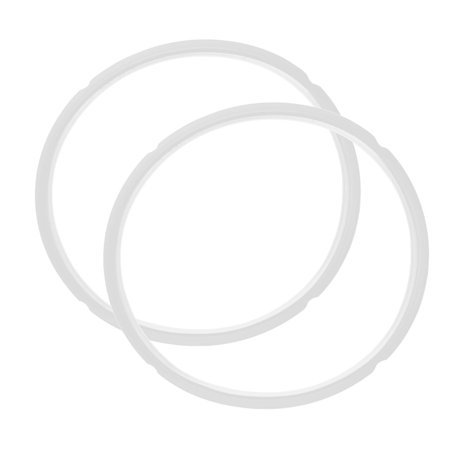 Kitchen Rubber Gasket Sealing Ring Clear White 2pcs for 5-6L Pressure (Pressure Cooker Gasket)