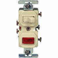 Eaton Wiring Devices 277V-BOX Combination Toggle Switch, 120/277 V, Strap Mounting, Steel, Ivory