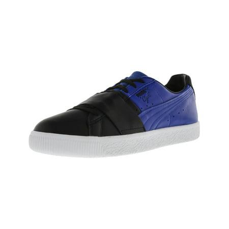 check out 11241 f77fd Puma Men's Clyde Colorblock 1 Black / Lapis Blue Ankle-High Fashion Sneaker  - 11.5M