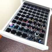 Polar Whale Nail Polish Drawer Organizer Compatible with IKEA Alex Tray Washable Waterproof Insert for Home Bathroom Bedroom Office Made in USA 11.5 x 14.5 Inches 63 Compartments Black