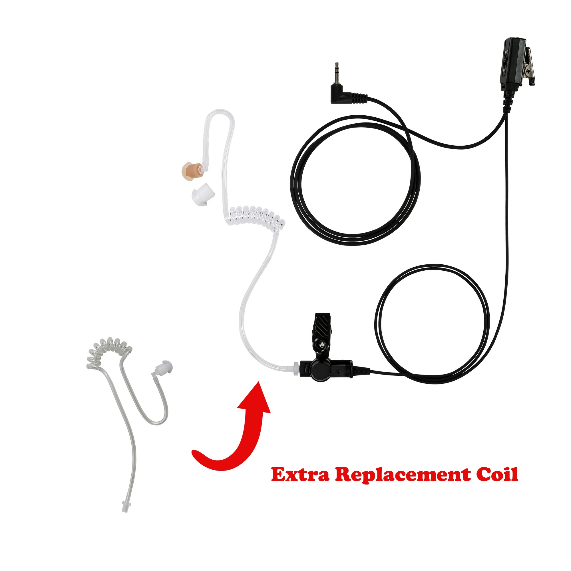 Maxtop ASK2425-M2 1-Wire Clear Coil Surveillance Kit