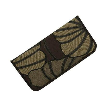 Soft Fabric Slip In Eyeglass Case, Fits Small to Medium Frames, Seashell Pattern in