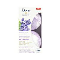 Dove Nourishing Secrets Bath Bomb Set Lavender and Chamomile 2.8 oz, 2 ct