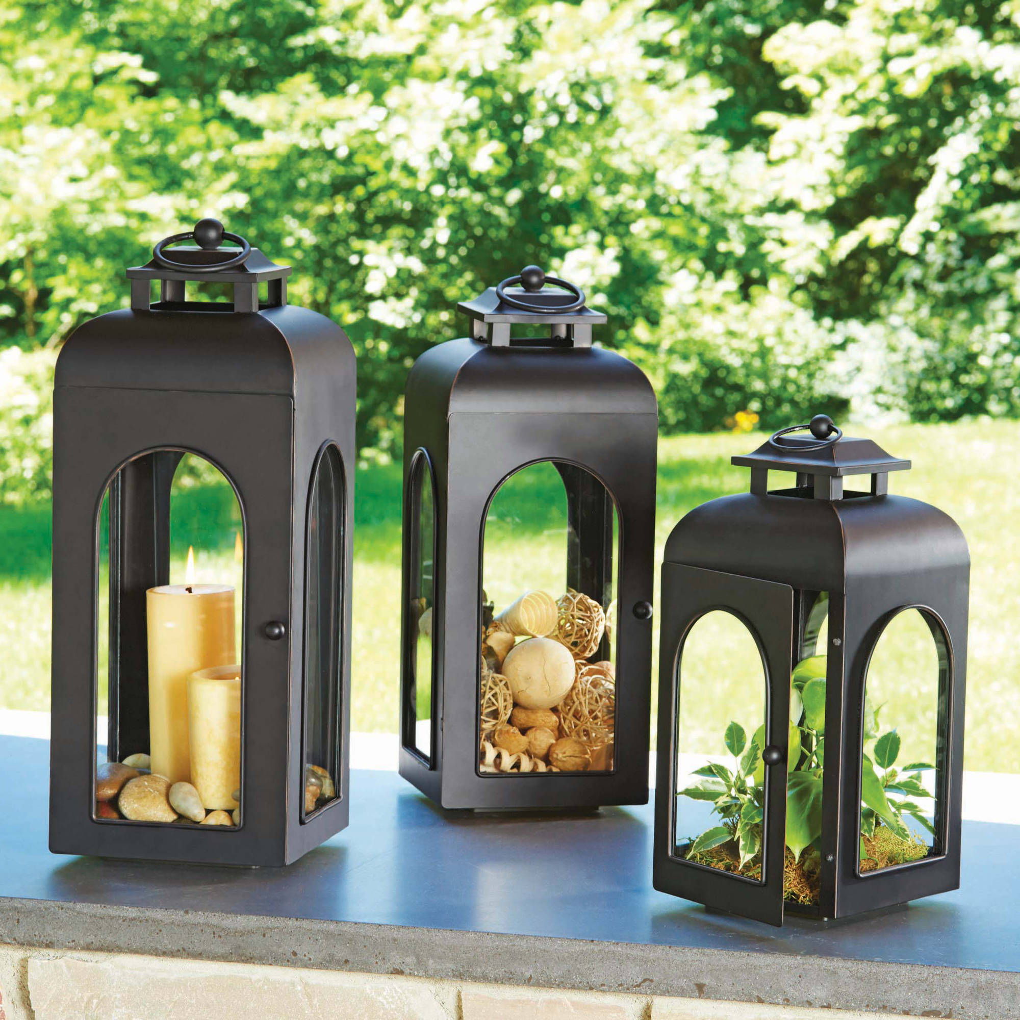 Better Homes and Gardens Domed Metal Outdoor Lantern - Walmart.com