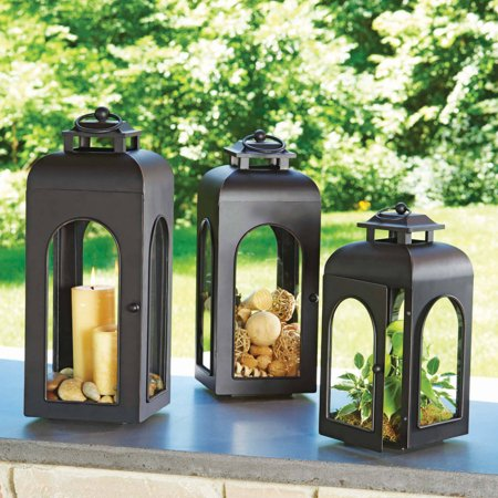 Better homes and gardens domed metal outdoor lantern - Better homes and gardens solar lights ...