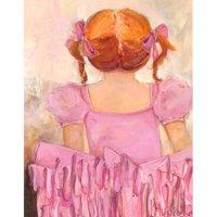 Oopsy Daisy's Angelic Ballerina Red Hair Canvas Wall Art, 14x18