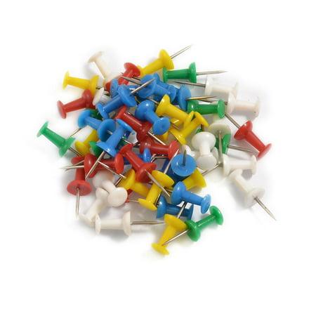 Unique Bargains Unique Bargains 35 Pcs Assored Colors Plastic Head Push Pins Tacks for Office -