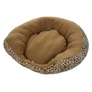 Soft Sofa Shaped Warm Dog Cat Kitten Puppy Pet Bed Cushion Mat Basket House Leopard S