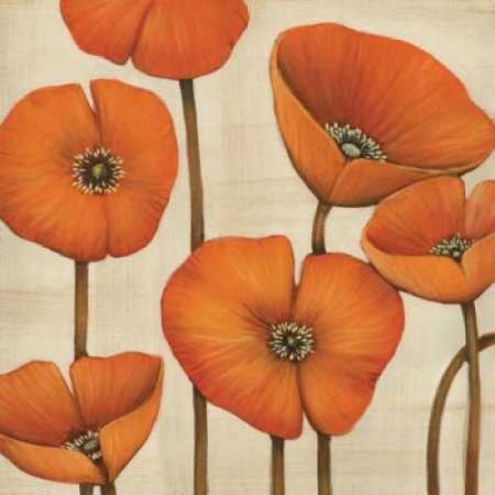 Bouquet Orange Rolled Canvas Art   Maja  12 X 12