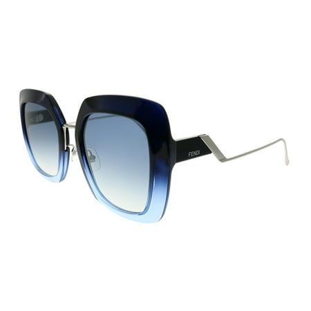 Fendi Tortoise Sunglasses (Fendi Tropical Shine FF 0317 ZX9 08 Womens  Square)