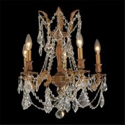 Worldwide Lighting W83304FG18-CL Windsor Collection 5 lights French Gold Finish with Clear Crystal Chandelier