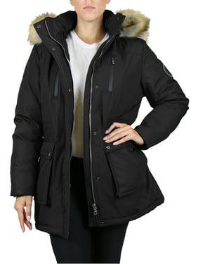 GBH Women's Heavyweight Tech Parka Jacket With Fur Hood (S-3XL)