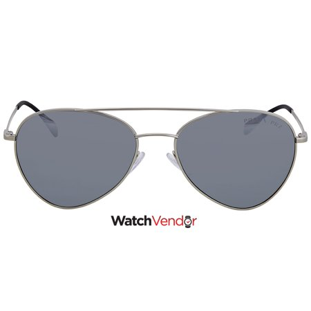 002bf4110691 Prada Polarized Grey Mirror Silver 57 mm Aviator Sunglasses PS 50SS 1AP2F2  57 - image 1 ...