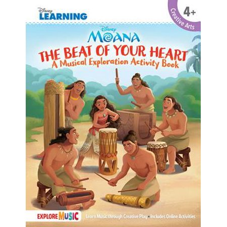 Moana - The Beat of Your Heart : A Musical Exploration Activity Book Disney Learning