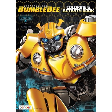 Coloring Book - Transformers - Coloring and Activity Book - 64p - Bumblebee (Transformer Coloring Pages)