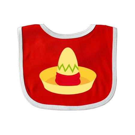 Cinco De Mayo Straw Sombrero Baby Bib Red/White One Size - Straw Sombreros