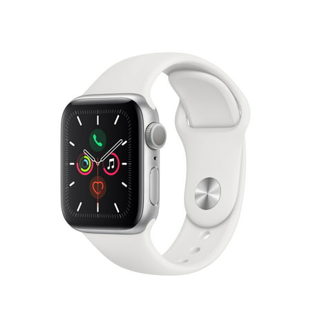 Apple Watch Series 5 GPS, 40mm Silver Aluminum Case with White Sport Band - S/M & M/L