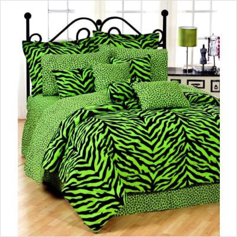 Karin Maki Zebra Complete Bedding Set, Full, Lime